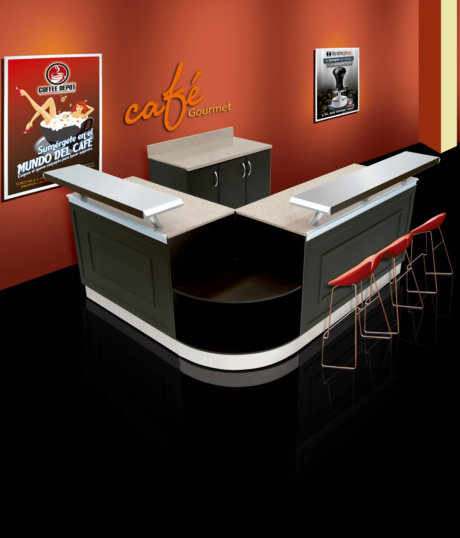 Barra para cafeter a modelo classic coffee depot for Modelos mesas para cafeteria